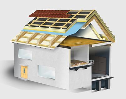 Bauder Home Illustration
