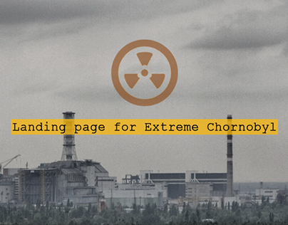 Concept landing page for Extreme Chornobyl