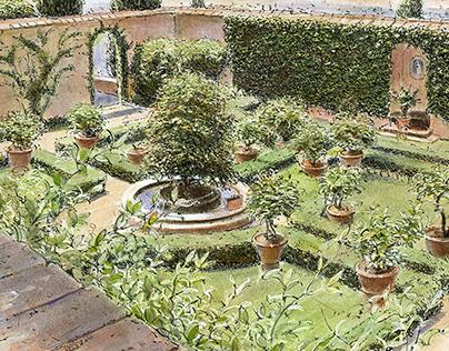 Garden history illustrations