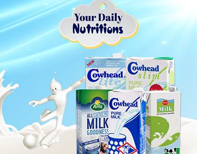 Creative Social Media ads-Milk