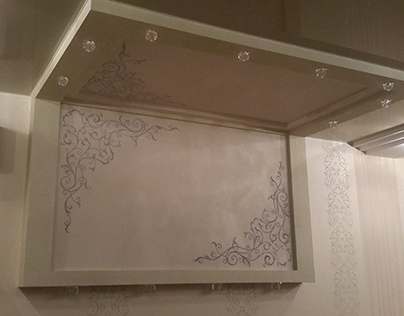 wall painting in bedroom