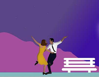 La La Land movie banner re-design
