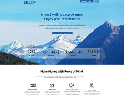Serenity Invest – HYIP Template