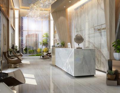 Lobby hotel design in kSA