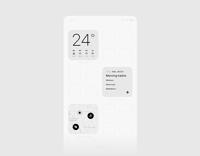 Minimal app concept
