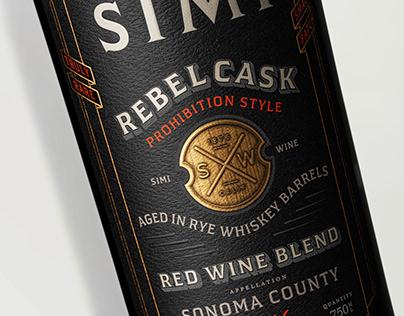 Rebellious Spirit Simi Rebel Cask Label Design