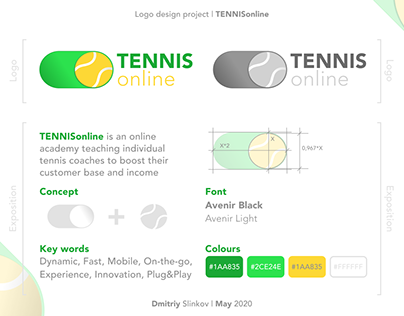 Strategy and logo design for online tennis academy