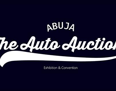 The abuja auto auction logo concept