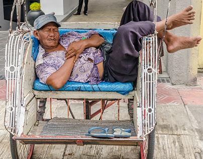 Sleeping Rickshaw Drivers