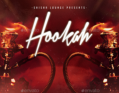 Hookah Lounge | Chic Shisha PSD Flyer Template