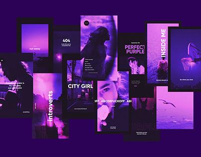 Social Media Template - Perfect Purple | Download