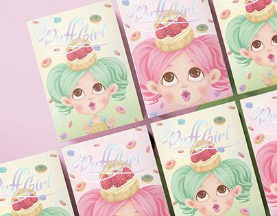 Puff Girl食品膠囊 │ 包裝插畫設計