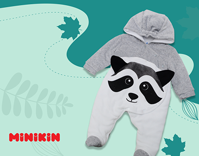 Landing page для магазина детской одежды MINIKIN
