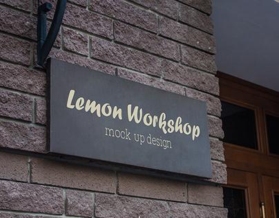 Logo Mockup Wall Sign