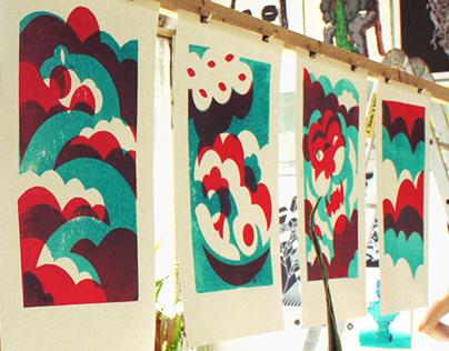 "Printed series for print-market ""Вкус Бумаги"""