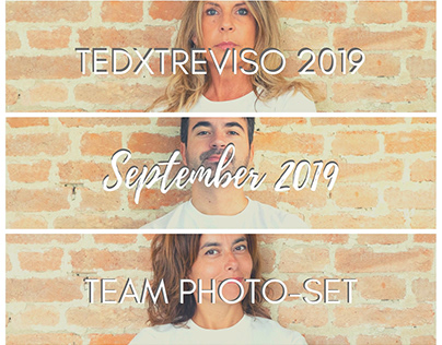 TEDxTreviso 2019, Team Photo-set - September 2019