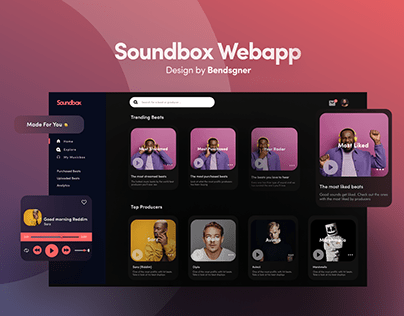 UI/UX Soundbox Webapp