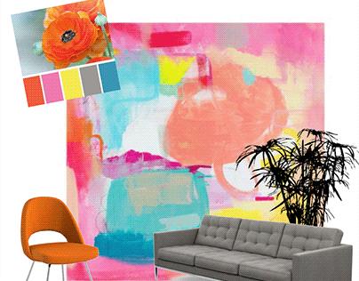 Color Palette Inspired Design Boards