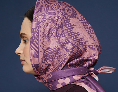 "scarf design ""Teremok"""