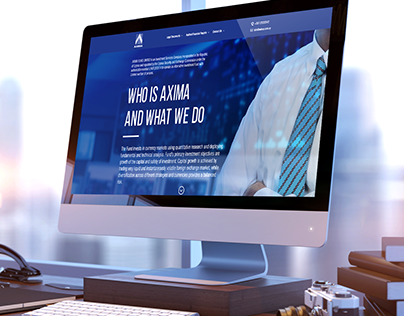 AXIMA Landing page
