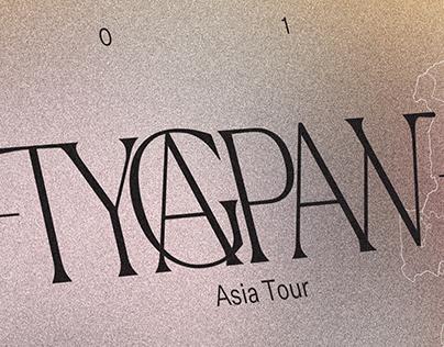 Fake Accent—Tygapaw International Tour Flyer