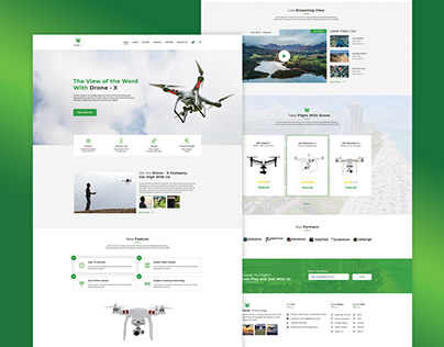 Drone - X Landing Page
