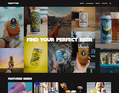 CRAFTYTAP Website Concept