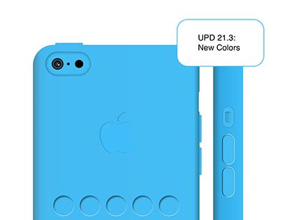 Iphone 5c Blue Case. Sketch Rework
