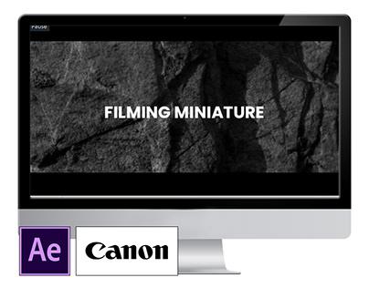 filming miniature's