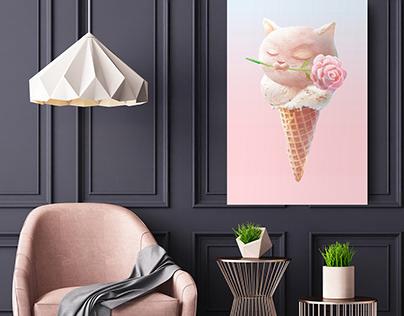 Ice Cream Love   Wall Art   Kids Room   Poster