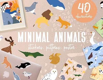 Minimal Animals Set