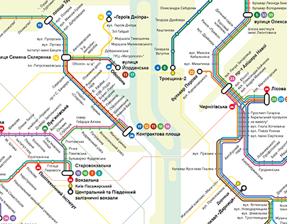 Kyiv Tram Routes Map