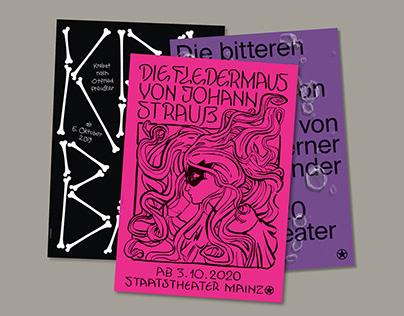 Staatstheater Mainz Posters (2020/21)