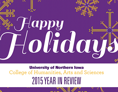 College of Humanities, Arts and Sciences Holiday Card