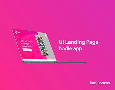 Landing Page Hodie UI / UX