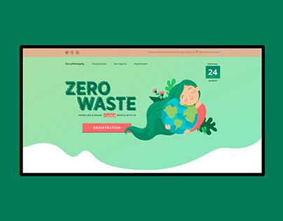 """Zero Waste"" festival. Landing page."