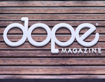 DOPE MAGAZINE Branding & Logo Design