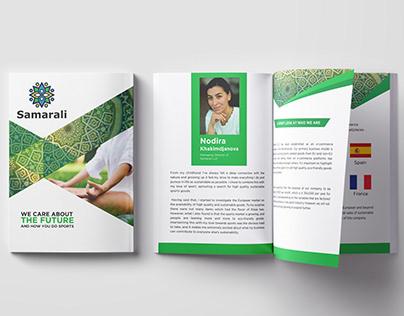 Samarali Company profile Design.