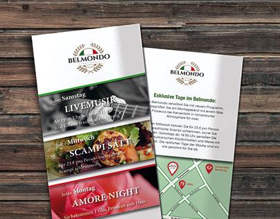 Belmondo-Trattoria - Flyer