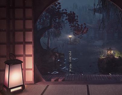 旅館 Ryokan at Night