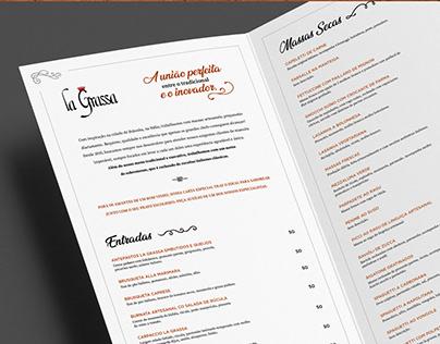 La Grassa | Design Cardápio