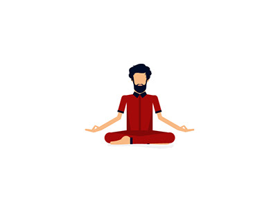 Yoga-Man-Vector-illustration-Art