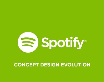 Spotify Windows (concept design evolution)