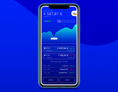 Coinbase UI Design