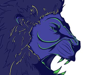 Lion Illustration - Work In Progress