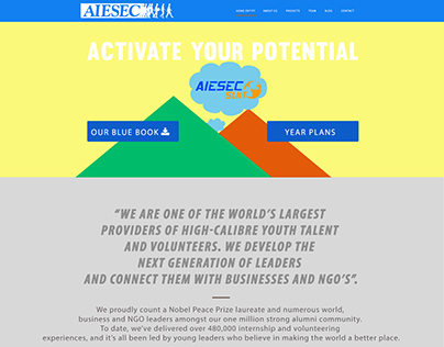 AIESEC in SLIIT - Sample Wire-frame