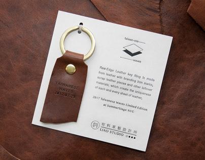 Raw-Edge Keychain 皮革邊緣鑰匙圈
