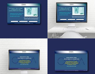 Landing page. Pagina web diseño maquinación.