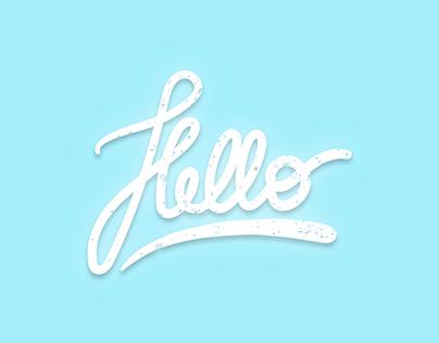Hello - Typographie