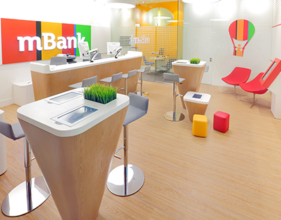 mBank Light Branch bank concept